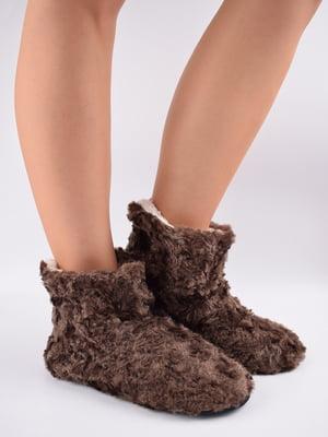 Тапочки-шкарпетки коричневі   5903052