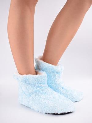 Тапочки-шкарпетки блакитні   5903054