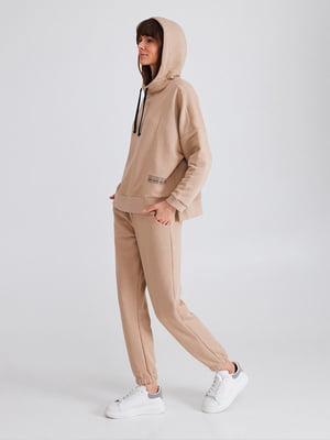 Комплект для дому бежевий: худі і штани | 5903727