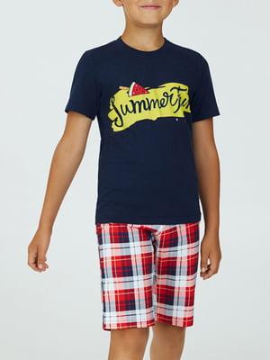 Піжама комбінованого забарвлення: футболка і шорти   5903735