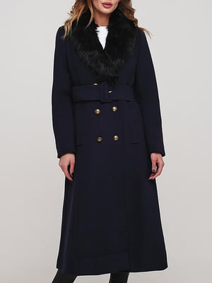 Пальто синее   5904763