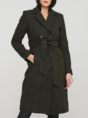 Пальто цвета хаки   5904765