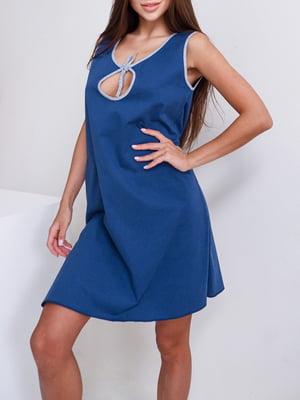 Рубашка ночная для беременных синяя | 5904940