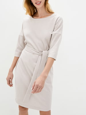 Платье А-силуэта бежевое   5905303