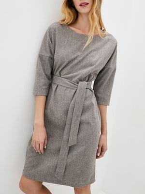 Платье А-силуэта коричневое   5905304