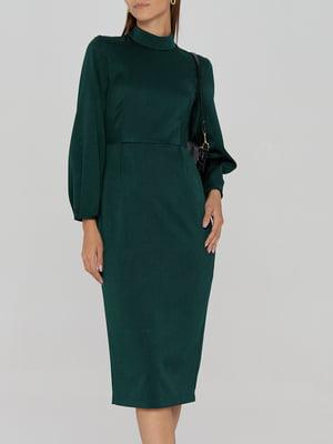 Платье-футляр изумрудного цвета   5906873