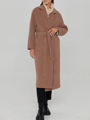 Пальто цвета капучино   5906878