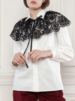 Блуза біла з коміром   5909621