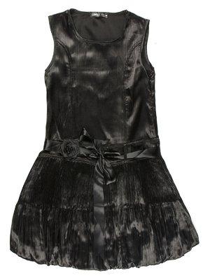 Сарафан чорний з поясом-зав'язкою і квіткою   565049