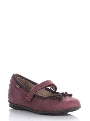 Туфли бордовые с бантиком-завязкой | 677920