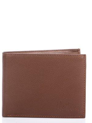 Портмоне коричнево-рудого кольору з тисненим фірмовим написом   460638
