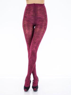 Колготки темно-розовые с рисунком - Charmante - 147005