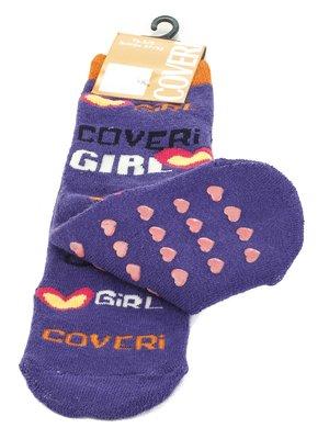 Шкарпетки фіолетові з написами | 576560