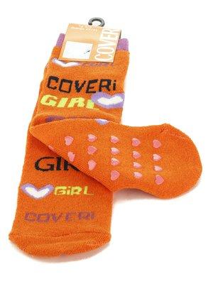Шкарпетки помаранчеві з написами | 576563