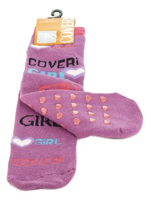 Шкарпетки бузкові з написами | 576564