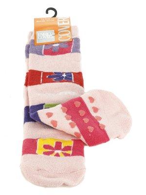 Шкарпетки рожеві з контрастними смужками | 576565