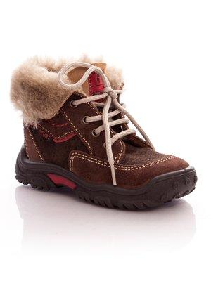 Ботинки коричневые на шнуровке | 34855