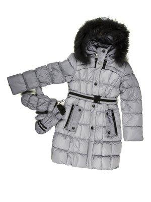 Пальто сіре | 662103