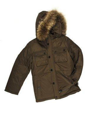 Куртка цвета хаки | 662106