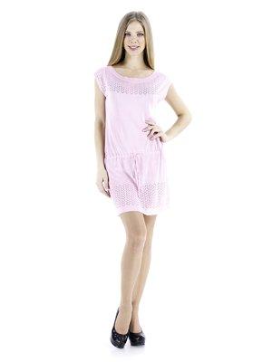 Платье светло-розовое с кулиской   72009