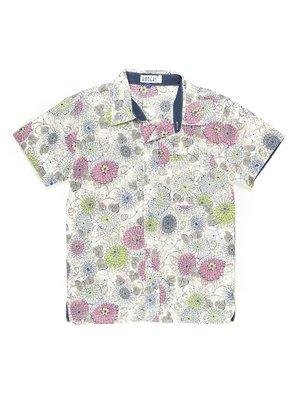 Сорочка молочного кольору в квітковий принт | 548509