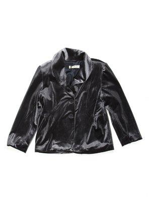 Жакет темно-сірий велюровий | 449588