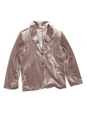 Жакет бежево-рожевий велюровий | 449589