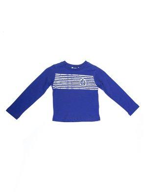 Джемпер синій з контрастними смужками | 727694