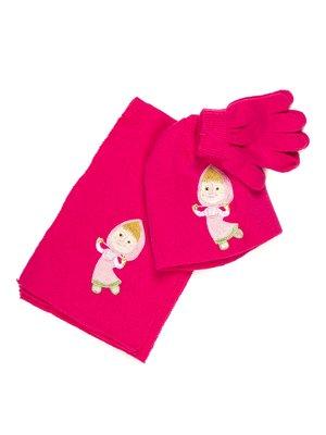 Комплект: шапка, шарф і рукавички | 678000