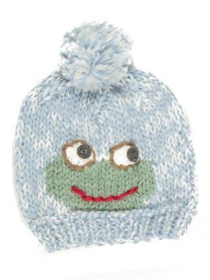 Шапка блакитна із зображенням жабки | 628980