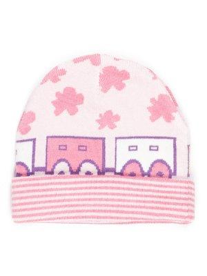 Шапка розовая с рисунком | 765016