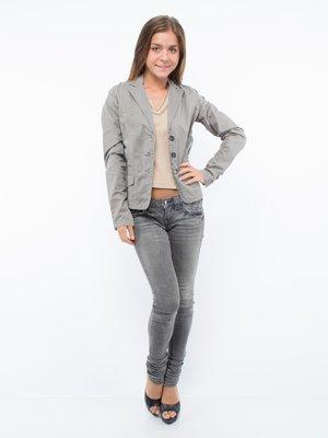 Жакет серый с вышивкой | 75021