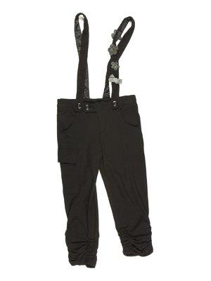 Капри черные на шлейках | 629042