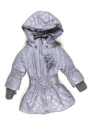 Пальто серое с капюшоном | 629062