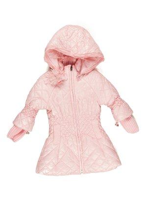 Пальто розовое с капюшоном | 629063