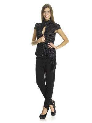 Блуза двухцветная в полоску   670017