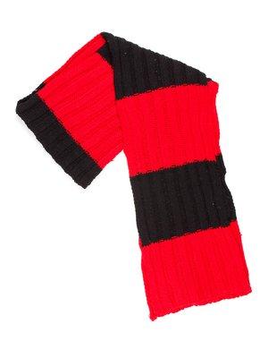 Шарф червоно-чорний у смужку   754971