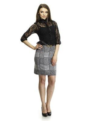 Платье комбинированное | 342421
