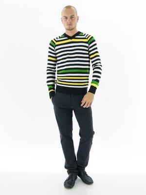 Пуловер в цветную полоску | 36220