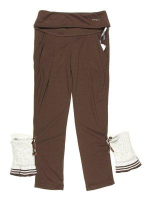 Штани коричневі з гетрами | 629076