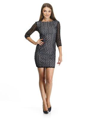 Платье двухцветное ажурное   455830