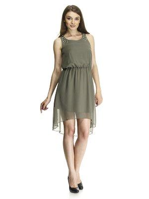 Сукня кольору хакі | 411802