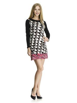 Платье абстрактной расцветки | 405811