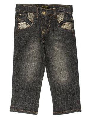 Капри черные джинсовые | 649111