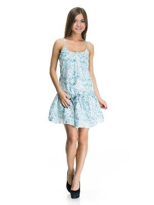 Платье синее в рисунок | 113807