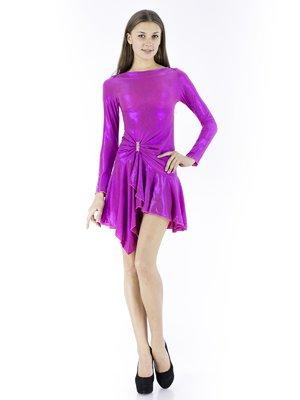 Сукня малинового кольору з однотонним візерунком   234763