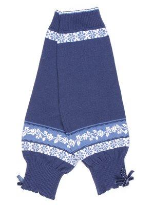 Митенки синие с орнаментом | 754981