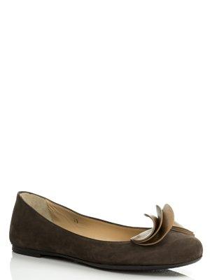 Балетки коричневые с декором | 488858