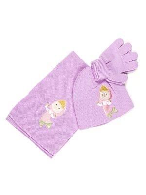 Комплект: шапка, шарф і рукавички | 677999