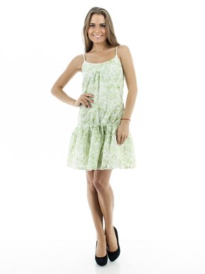 Платье светло-зеленое в рисунок | 130295